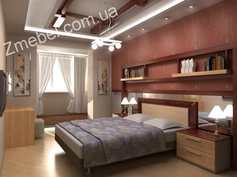 """Дизайн спальни с балконом в хрущевке """" современный дизайн."""