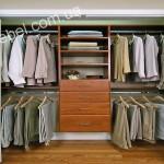 Небольшие гардеробные на заказ фото 15