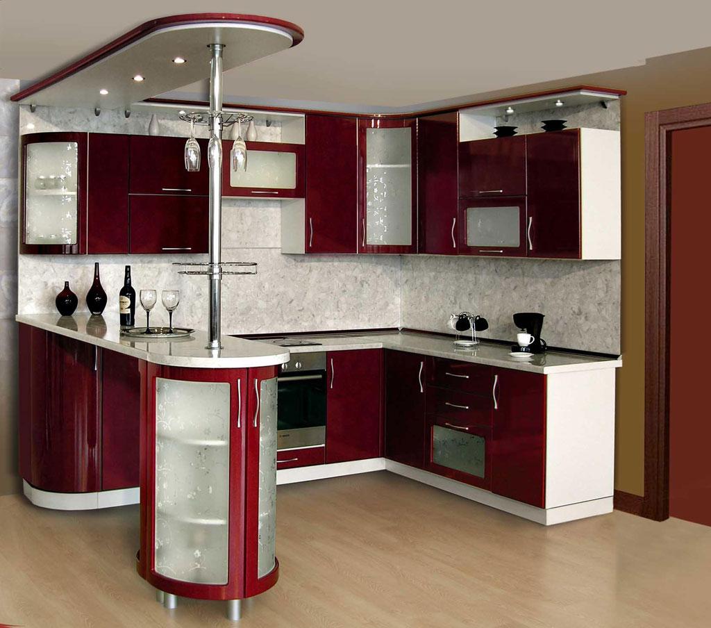 кухни с барной стойкой. фото