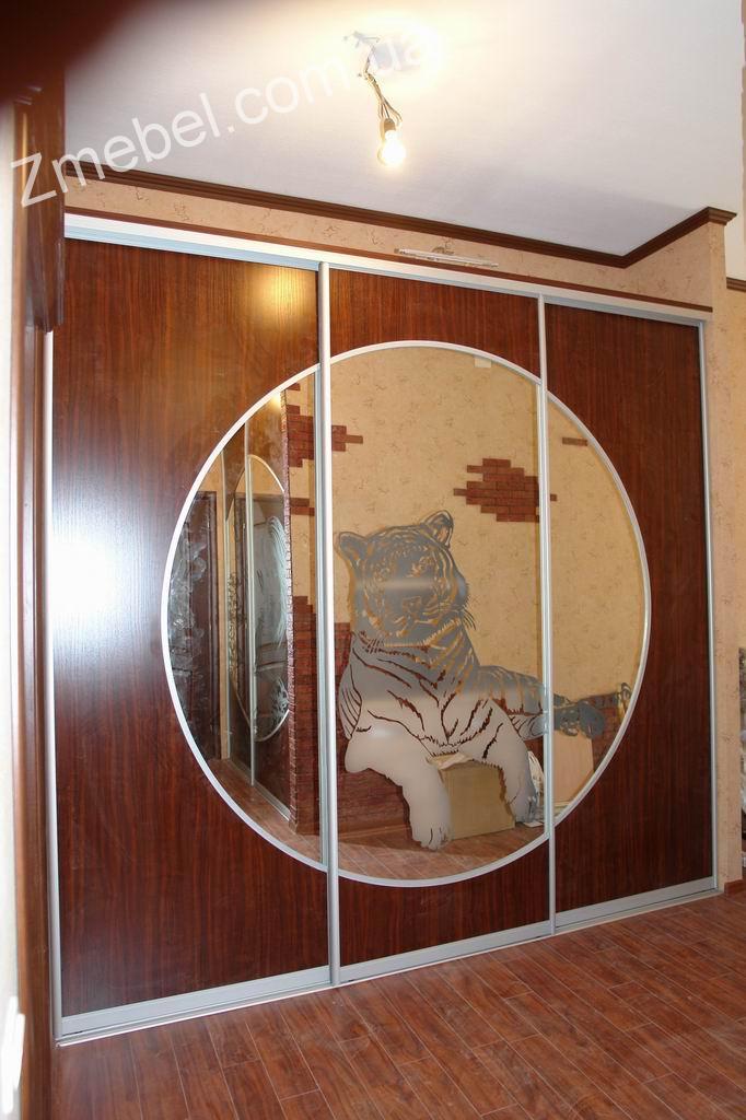 Галерея: шкафы купе с пескоструйным рисунком на заказ в киев.