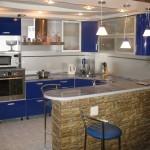 Кухни с барной стойкой на заказ фото 2